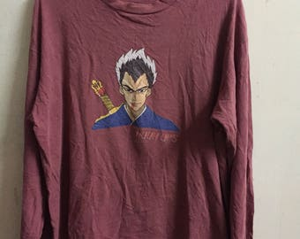 Vintage 90s HOOK UPS Skateboard Rare Long sleeve Shirt Large