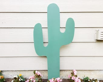 Cactus Garden Decor - Metal Cactus - Rusty Metal - Garden Art - Yard Decor - Cactus Decor