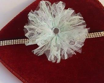 flower diamond headband. Flower headband, Diamond studded headband