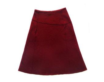 Vintage Senas red women skirt 100% wool
