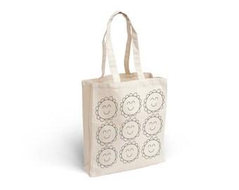 Fabric bag with margaritas design