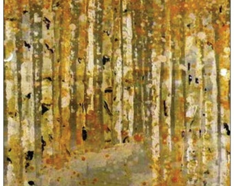 Silver Birch Tree Card, Woodland, Nature, Original Art, Acrylic Art, Blank Card, Forrest,