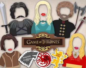 Printable Game of Thrones Photo Booth Props, Killing Game Party Photo Booth Props, Instant Download Game of Thrones PhotoBooth Props 0050