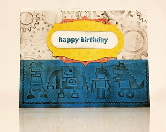 Robotics and Gears Little Boy Birthday Card