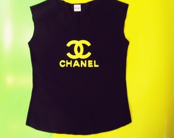 Chanel U-neck T-shirt -M- Fashion T-shirt Global fashion brand T-shirt Womens wear