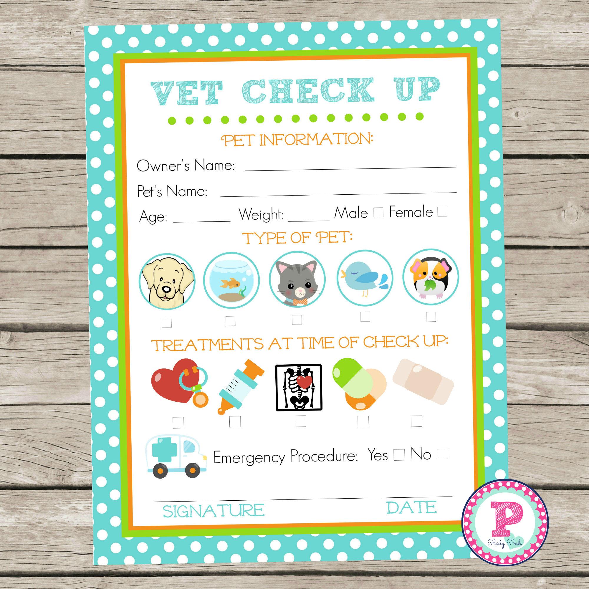 Adopt a Pet Vet Checkup Birthday Party Ideas Polka Dot Adoption