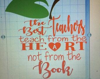 The best teachers teach.....