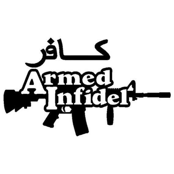 Vinyl Decal Sticker - American Infidel Decal for Windows, Cars, Laptops, Macbook etc