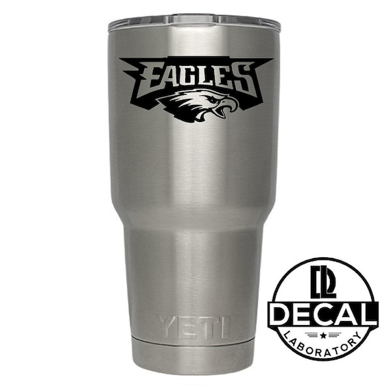 Yeti Decal Sticker - Philadelphia Eagles Decal Sticker For Yeti RTIC Rambler Tumbler Coldster Beer Mug