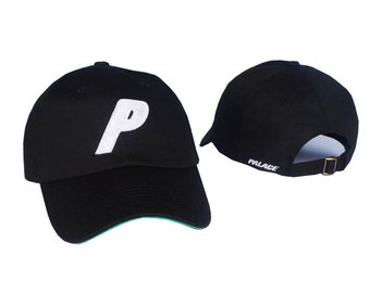 Black palace skateboards P Baseball Panel Caps