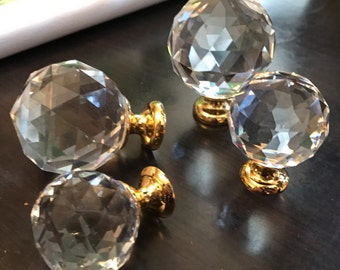 Glass Knobs Crystal Knobs Dresser Knobs Pulls Drawer Knobs Pulls Handles Knob Gold Silver Clear Furinture Kitchen Cabinet Knobs Pull Sparkly