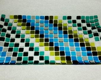 Pixelated Turquoise Tray