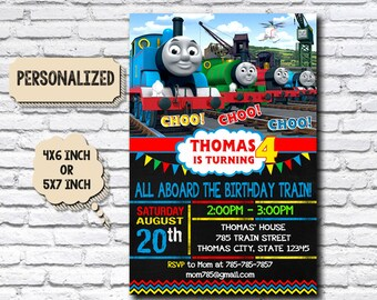 Thomas Train Invitation / Thomas Train Birthday / Thomas Train Birthday Invitation / Thomas Train Party / Thomas Train Printable / Thomas