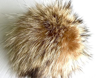 Pompom - Recycled red fox fur