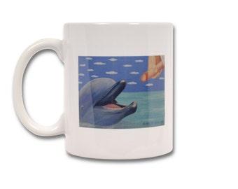 Mug, Cup Dolphin humorous humor cards tasteless sex Dick erection