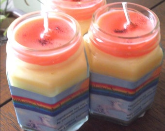 Magic Rainbow Soy wax Candle  Reduced to clear last two