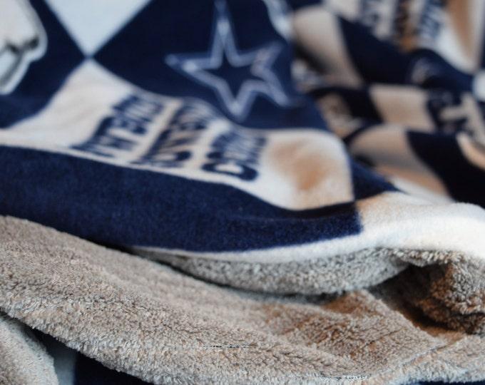 Build a blanket, Cowboys throw, Custom cover, Custom blanket, Large football throw, football throw, dallas blanket, custom football,