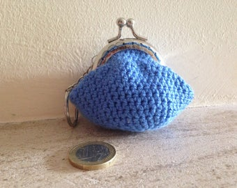Coin purse with Keychain fabric in crochet