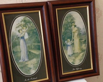2 Vintage Wall Hanging Prints