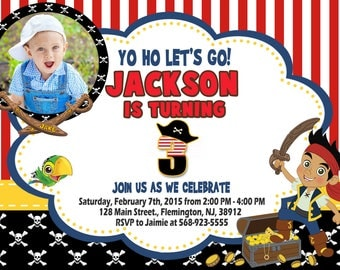 Jake and the Neverland Pirates Invitation Birthday Party
