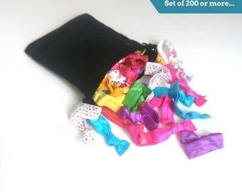 Hair ties bulk, Hair tie grab bag, Yoga hair ties, Bulk hair ties, Ties & Elastics, No crease hair ties, Ponytail holder, Fold over elastics