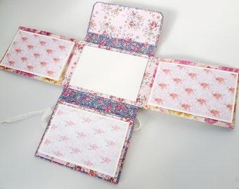 Gift for birthday, shabby chic, flowers, Album Scrapbook, Craft handmade, Birthday for mom, Paper Party Supplies, Book memories, Book album