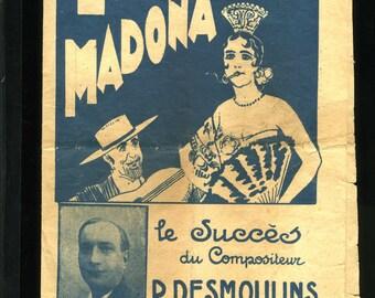 SHEET MUSIC - FRENCH - La Madona and Sous le Soleil Marocain
