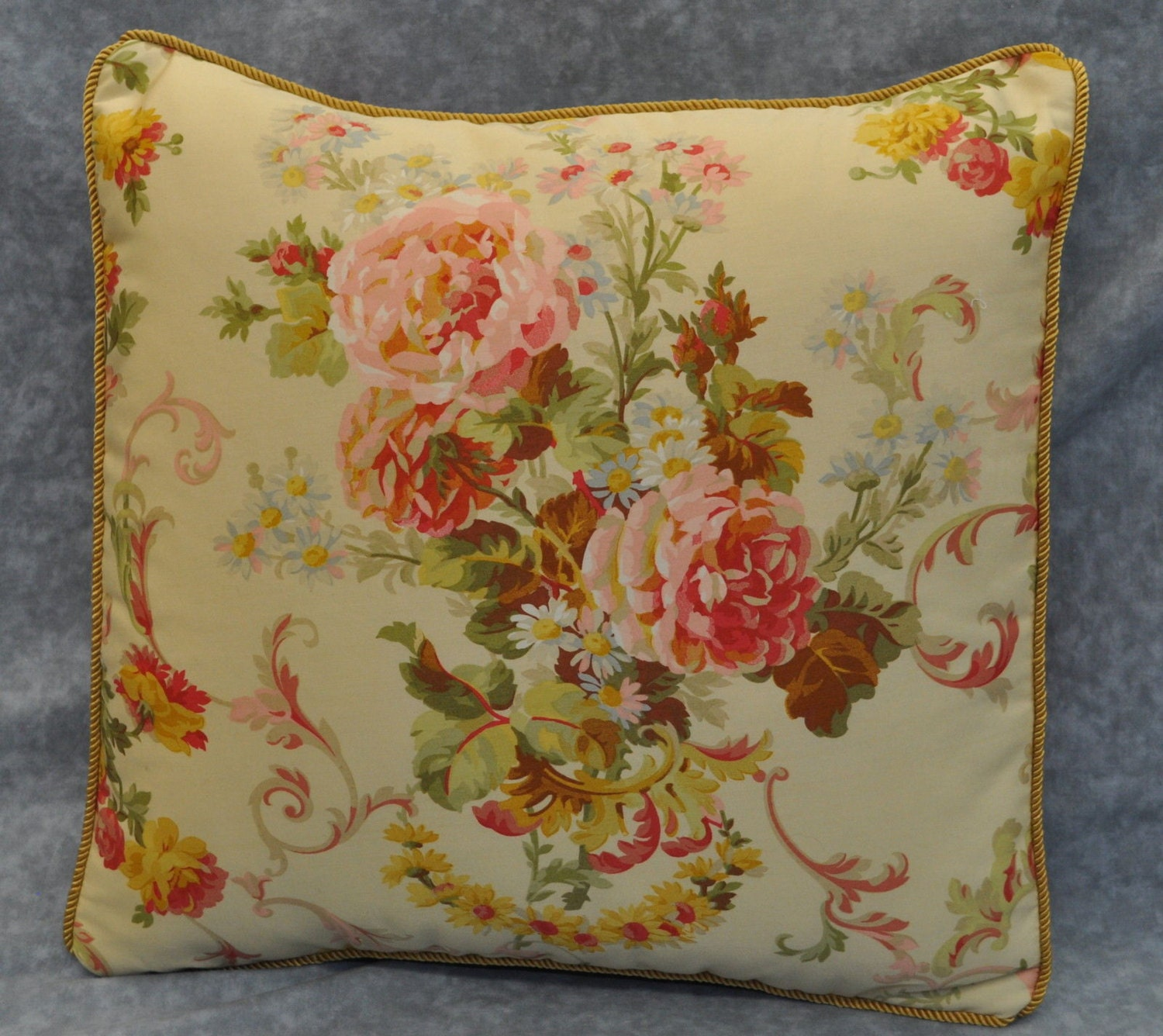 Decorative Pillows Floral Pillows Shabby Chic Pillows