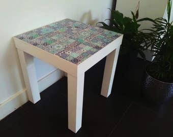 End table, bedside table, coffee table with tile top