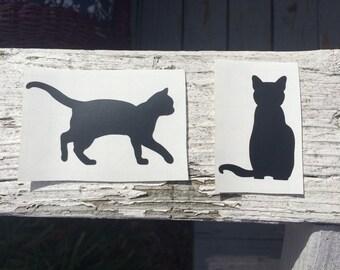 Cat Outline Vinyl Decal - Cat Decal
