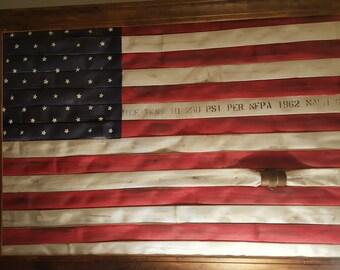 Patriotic Fire Hose Flag