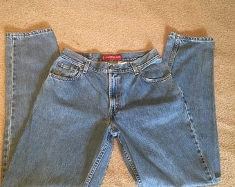 Womens levis 550 vintage 12 L jeans used