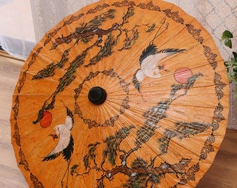 Japanese Parasol of Rice Paper, Bamboo_Vintage Umbrella