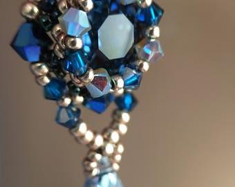 """Swarovski Chandelier Earrings- """"La Mer- blue"""""""