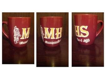 MHS Commandos coffee, tea mug
