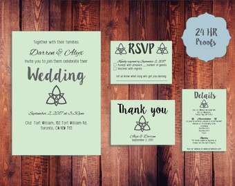 Celtic Knot Wedding Invitation Suite