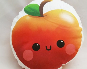 """Cute Red Apple 10"""" Cotton Pillow"""
