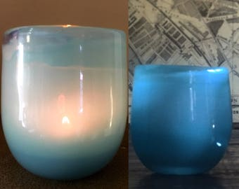 Hand blown Votive Candle, Glassblowing, Candle, Homedecor, Votive Candle Holders, Votive Holders