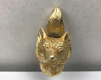 Set 6 X MR FOX gold coloured knob - Knob Home decor drawer pull