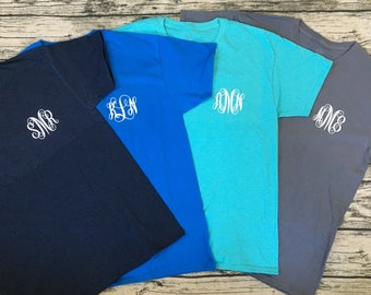 Personalized Monogram V-Neck Tee