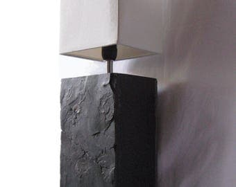"""Table lamp with fossilized ammonites """"Porto 6"""""""