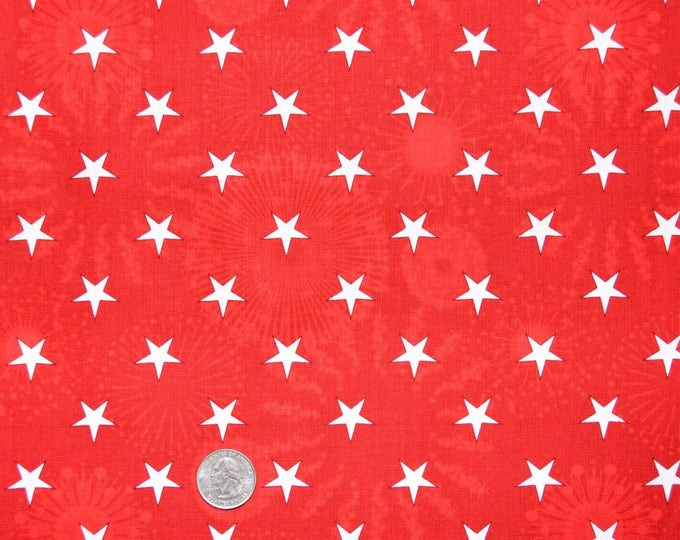 Robert Kaufman Patriots - 100% Kona Cotton  - AAE-10225-3 Red