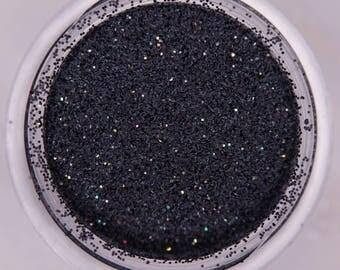 Black Iridescent  Extra Fine Glitters. 5 grams