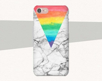 Rainbow Phone Case, Marble iPhone 6 Case, Rainbow iPhone 7 Case, iPhone Case Rainbow, iPhone Case Marble, iPhone 7 Plus, iPhone 6S Plus Case