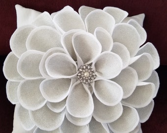White Flower Pillow
