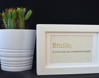 Urban Dictionary Wall Art / Smile Definition / Dictionary Art / Funny Definition / Word Art