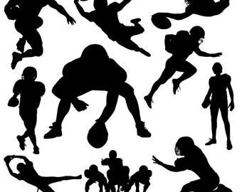 AMERICAN FOOTBALL SVG Files, Silhouette Studio, CriCut