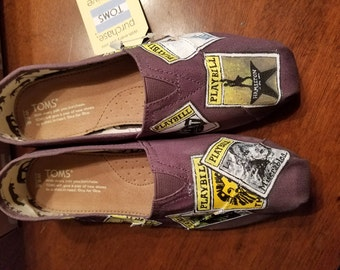 Playbill shoes customized to fit your faves!