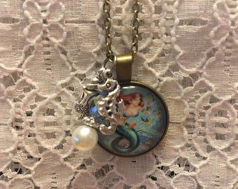 Mermaid Charm Necklace/Mermaid Jewelry/Mermaid Pendant/Mermaid Charm Jewelry/Fantasy Jewelry/Ocean Life Jewelry/Love Mermaids/Beach Jewelry