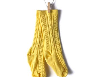 Dandelion Yellow Knee-High Stockings/Socks for Baby/Toddler - Hand-dyed
